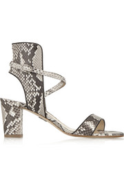 Lexington python sandals