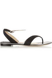 Paul Andrew Amiga python and leather sandals