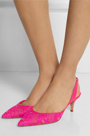 Paul Andrew Rhea brocade slingback pumps