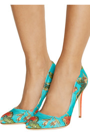 Paul Andrew Destiny printed satin-twill pumps