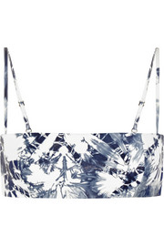 Alexander Wang Tie-dyed leather bralet