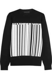 Printed stretch-jersey sweatshirt