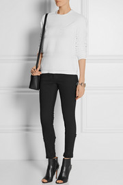 Alexander Wang Intarsia cotton-terry sweatshirt