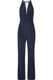 Ireland printed silk jumpsuit
