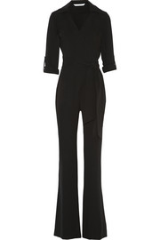 Stacy crepe wrap jumpsuit