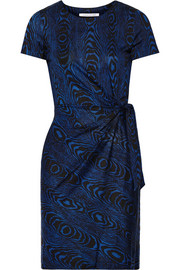 Zoe printed silk-jersey dress
