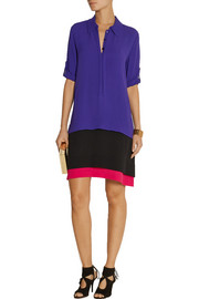 Diane von Furstenberg New Hatsu color-block crepe dress