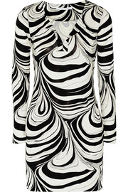 Diane von Furstenberg Reina printed silk-jersey mini dress