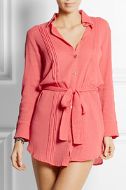 Heidi Klein Porto Vecchio crinkled-cotton shirt dress