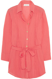 Porto Vecchio crinkled-cotton shirt dress