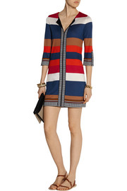 Diane von Furstenberg Rose striped silk mini dress