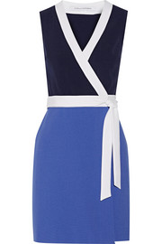 Gracie color-block stretch-crepe mini dress