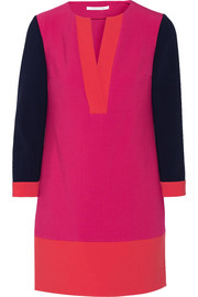 Millie color-block stretch-crepe mini dress