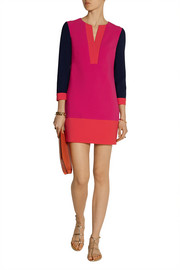 Diane von Furstenberg Millie color-block stretch-crepe mini dress