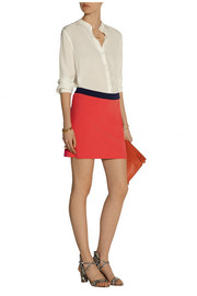 Diane von Furstenberg Sloane color-block stretch-crepe mini skirt