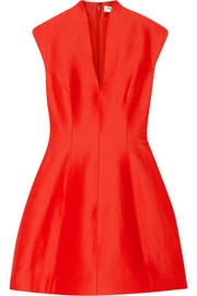 Halston Heritage Paneled faille mini dress