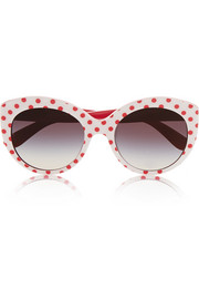 Cat eye polka-dot acetate sunglasses