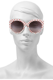 Dolce & Gabbana Cat eye polka-dot acetate sunglasses