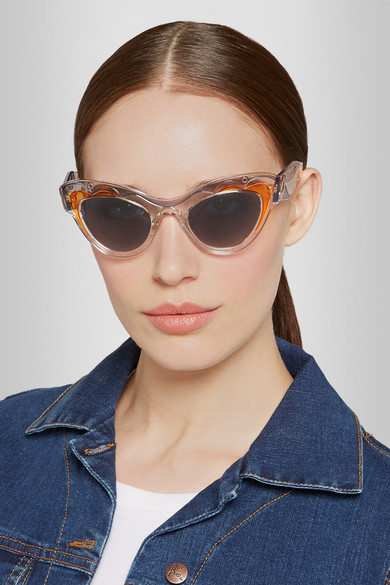 Miu Miu Transparent Cat Eye Sunglasses