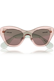 Miu Miu Two-tone cat eye acetate sunglasses