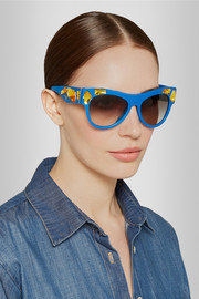 Prada Crystal-embellished cat-eye acetate sunglasses