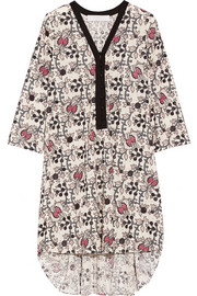 Thakoon Addition Printed eyelet-cotton dress