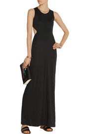 Addition cutout stretch-jersey maxi dress