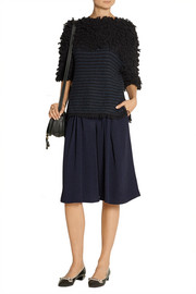 Thakoon Addition Pleated crepe culottes