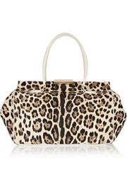 Tamara Mellon Speed Date leopard-print calf hair tote