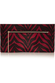Tamara Mellon Fever zebra-print calf hair clutch