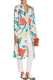 Thakoon Oversized floral-print twill coat