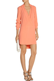 Thakoon Wrap-effect crepe mini dress