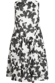 Strapless cotton and silk-blend jacquard dress