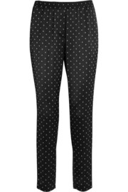 Thakoon Satin-jacquard tapered pants