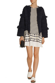 Thakoon Fringed stretch linen-blend cardigan