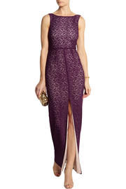 Alice + Olivia Gemma crocheted stretch-lace maxi dress