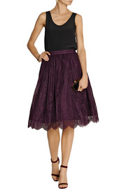 Alice + Olivia Perkins lace skirt