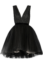 Alice + Olivia Princess layered tulle mini dress