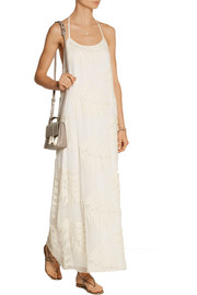 Kelly embroidered silk-chiffon maxi dress