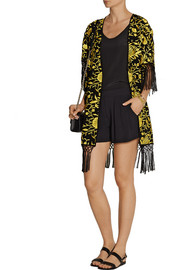 Alice + Olivia Onella embroidered silk kimono jacket