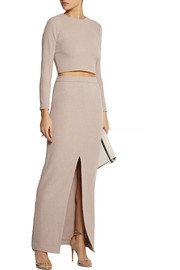 Alice + Olivia Abby stretch-cloqué maxi skirt