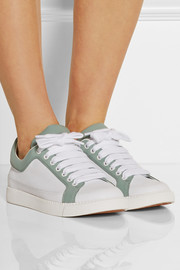 Sam two-tone leather sneakers