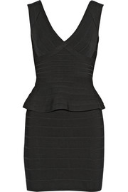 Hervé Léger Rebeca bandage peplum mini dress