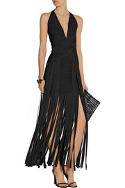 Rebekah fringed bandage gown