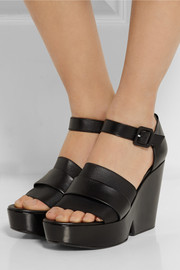 Robert Clergerie Dobert leather wedge sandals