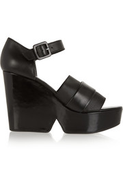 Dobert leather wedge sandals