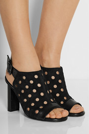 Robert Clergerie Lioro perforated suede and leather sandals