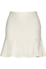 Lewis pleated cloqué mini skirt