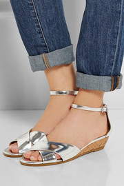 Marc by Marc Jacobs Seditionary metallic leather wedge sandals