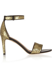 Marc by Marc Jacobs Glitter-finished leather sandals